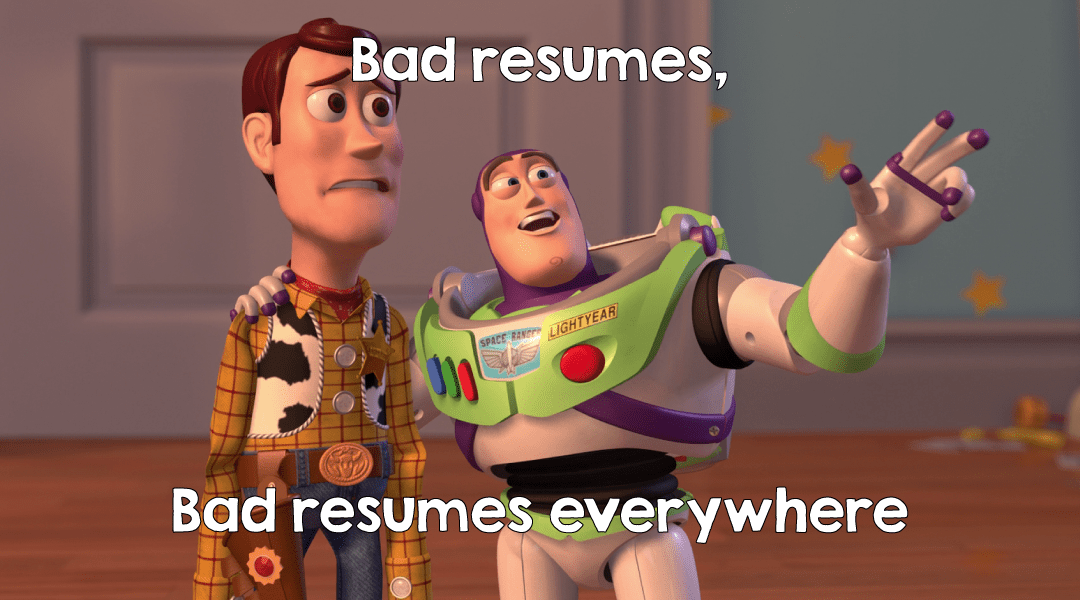 What are the signs of a bad resume?
